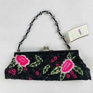 Fashion Express Beaded Embroidered Purse Handbag